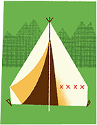 Camp NaNoWriMo Illustrated Tent