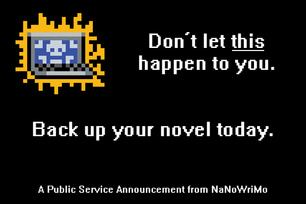 Back up your novel today.