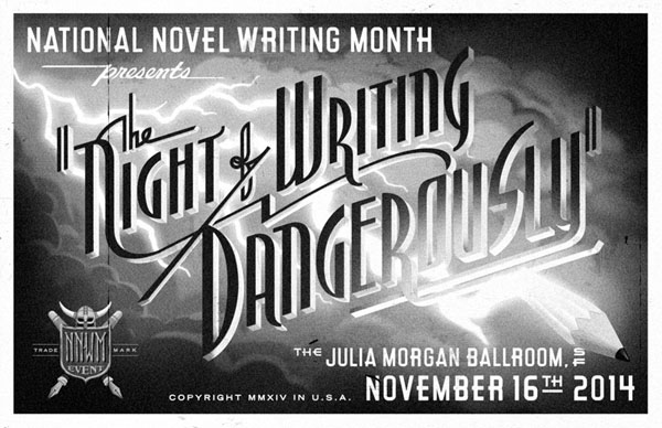 Night of Writing Dangerously 2014 Poster