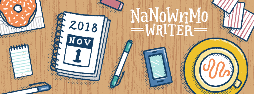 NaNoWriMo 2018 Facebook Cover