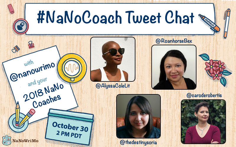 #NaNoCoach Tweet Chat Graphic