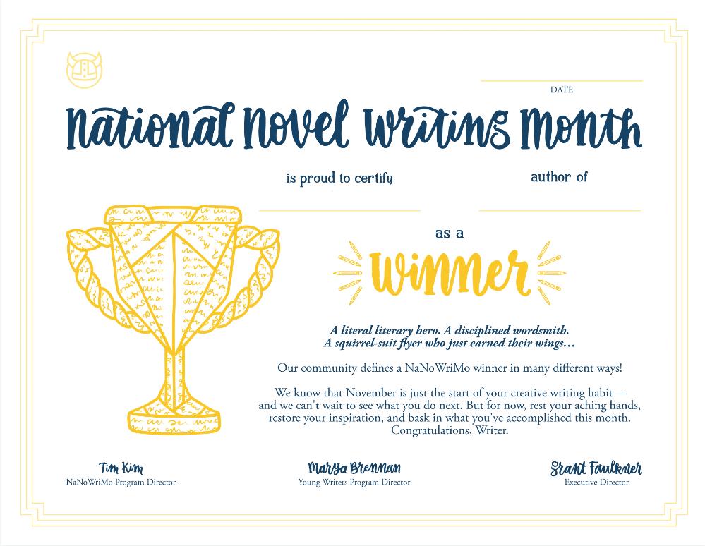 2018 Winner Certificate