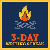 Day 3 writing badge