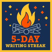 Day 5 writing badge