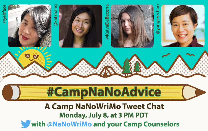 CampNaNoAdvice Tweet Chat Graphic